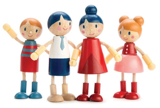 Tender Leaf Toys: Tender Leaf Family - Flexi-Doll Set
