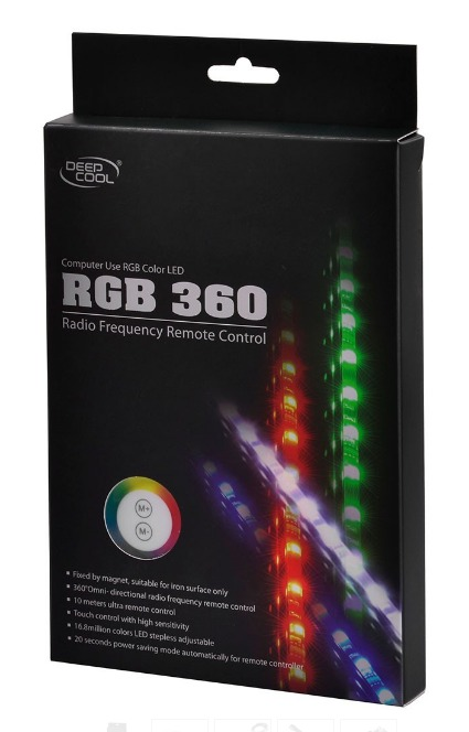 Deepcool RGB Colour LED 360 Strip Lighting Kit (Magnetic), 16.8 Million Colours, Omni Radio