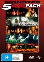 Monster 5 DVD Pack (Mummy / Van Helsing / Mummy Returns / Hulk / Scorpion King) (5 Disc Set) on DVD