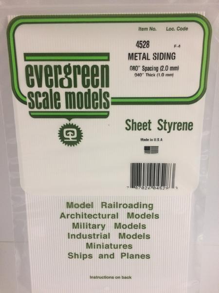 Evergreen Styrene Siding 15X29cm X 1 mm 2 mmsp