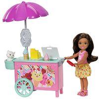 Barbie: Club Chelsea - Ice Cream Cart Doll & Playset