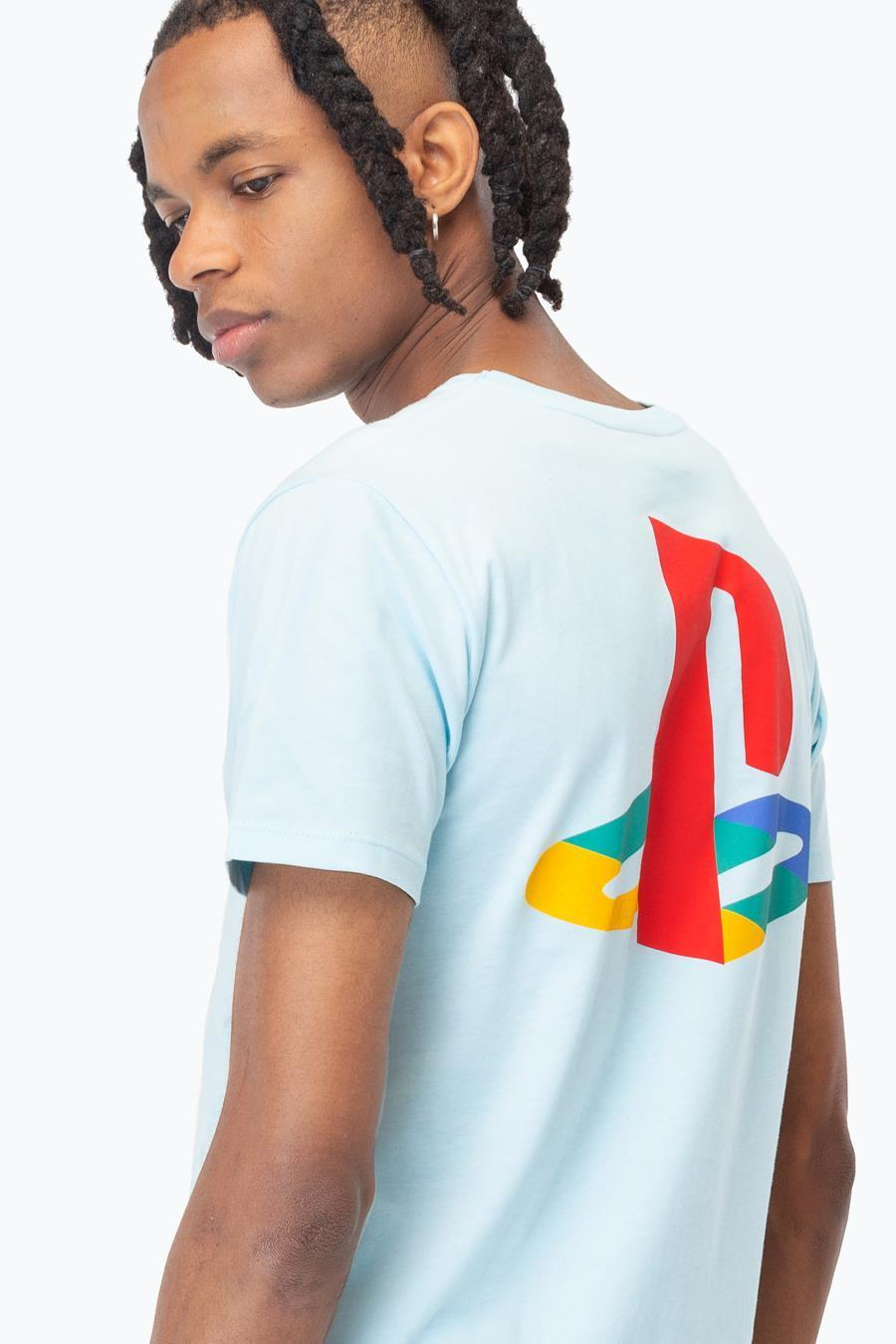 Just Hype: PlayStation Blue Crest Mens T-Shirt - Large image