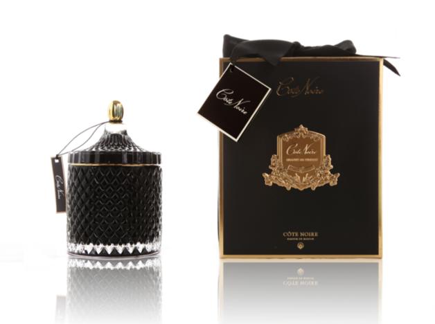 Cote Noire: Grand Art Deco Candle - Black