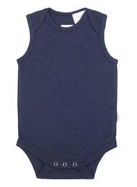 Babu: Merino Singlet Bodysuit - Navy (0-3m) image