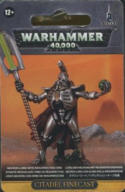 Warhammer 40,000 Necron Lord with Resurrection Orb