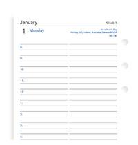 Filofax: Personal 2019 Refill - Day per Page (Lined)