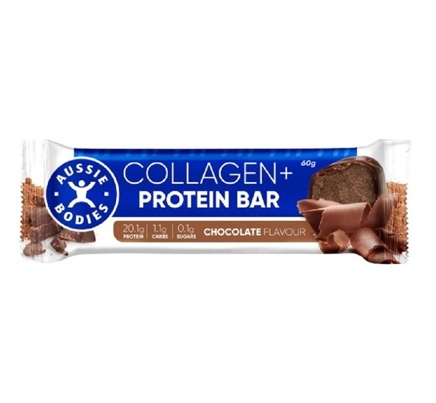 Aussie Bodies Collagen Protein Bar - Chocolate (12x60g)