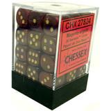 Chessex Signature 12mm D6 Dice Block: Borealis Magenta/Gold