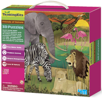 4M: Thinking Kits 3D Floor Puzzle Safari
