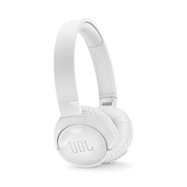 JBL T600BT Wireless On-ear Active Noise-Cancelling Headphones - White