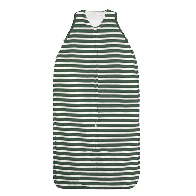 Woolbabe: 3-Seasons Front Zip Woolbabe Fern Stripe - 3-24 months