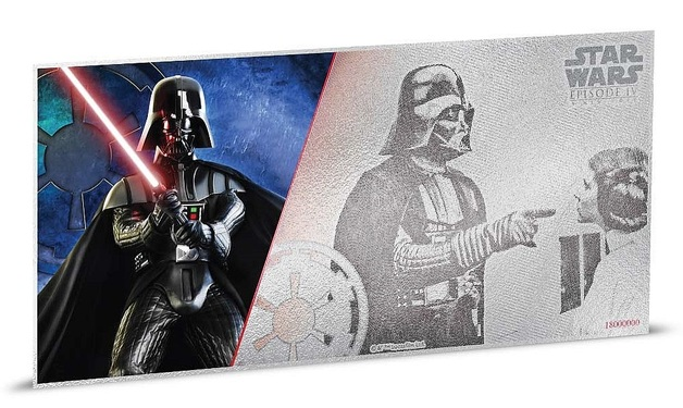 NZ Mint: Star Wars (Ep.1) - Silver Coin Note - Darth Vader 2018 (5g Silver)