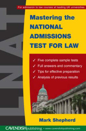 Mastering the National Admissions Test for Law by Mark Shepherd image