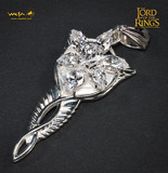 Lord of the Rings Evenstar Sterling Silver & CZ Pendant - by Weta