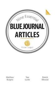 Nine Essential Blue Journal Article by Matthew Burgess