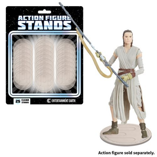 Action Figure Stands - Clear (25-Pack)