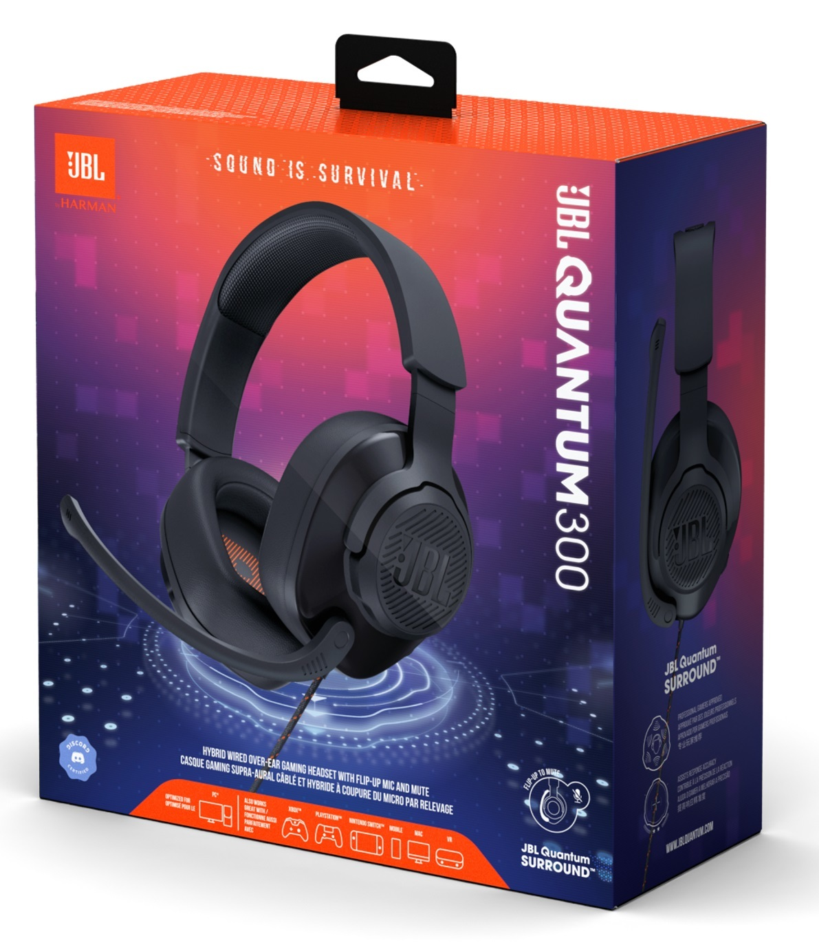 JBL Quantum 300 Wired Gaming Headset for PC image