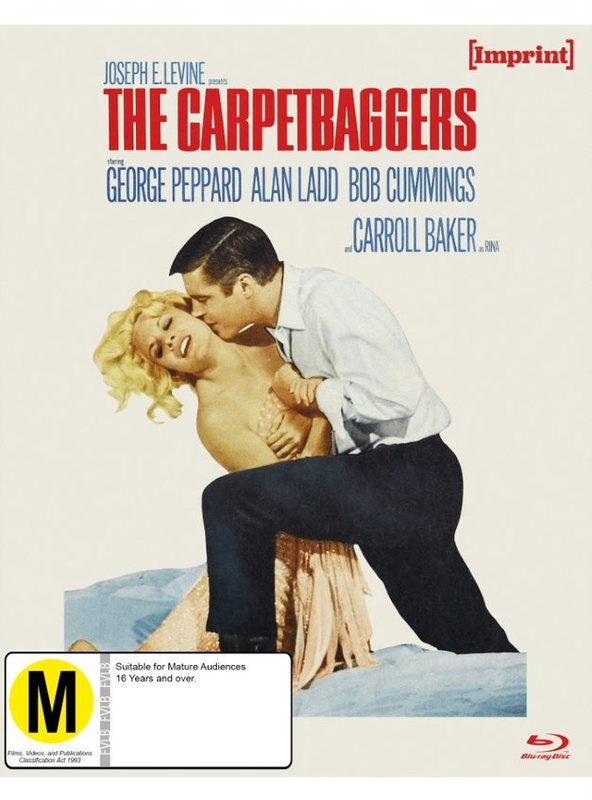 The Carpetbaggers (Imprint Collection #9) on Blu-ray