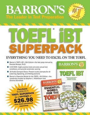 Barron's TOEFL Ibt Superpack by Charles Stansfield image