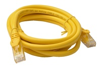 8ware: Cat 6a UTP Ethernet Cable Snagless - 2m (Yellow)