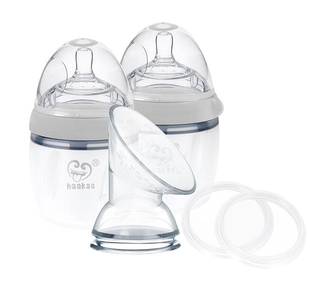 Haakaa: Generation 3 Silicone Breast PumpandBottlePack-Gray (160m)