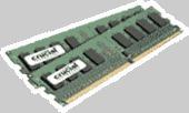 Crucial 2GB kit (1GBx2) 240-pin DIMM DDR2 PC2-6400  NON-ECC