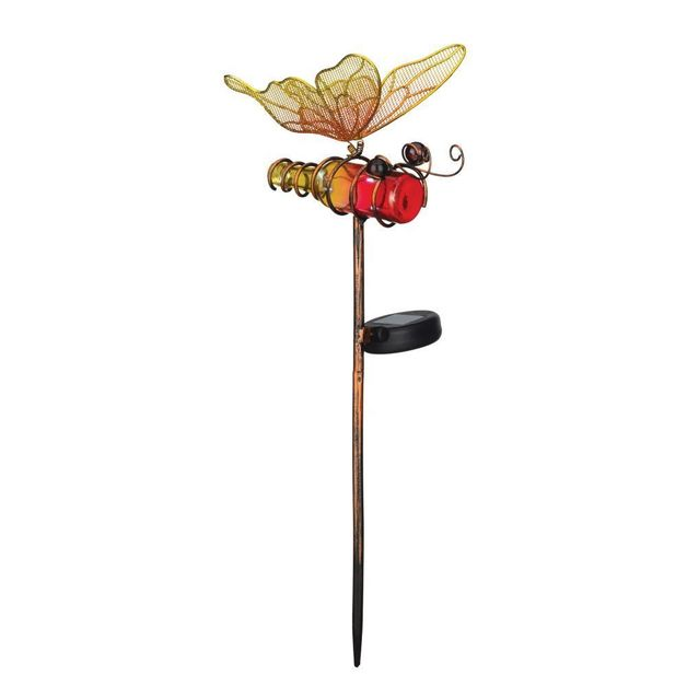 Regal: Mini Solar Butterfly Stake - Orange