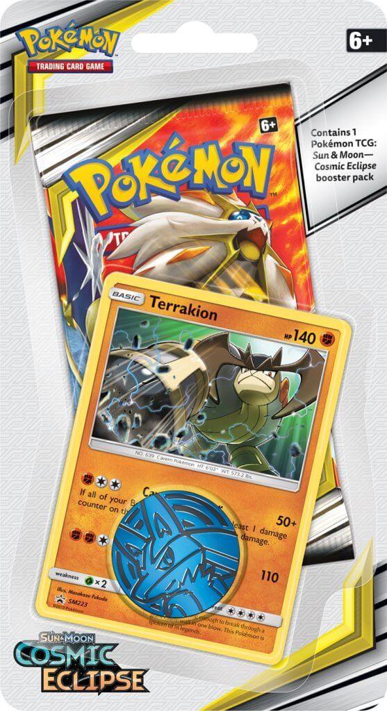 Pokemon TCG: Cosmic Eclipse Collectors Checklane Blister- Terrakion image