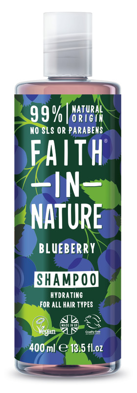 Faith In Nature: Blueberry Shampoo for All Hair Types (400ml)