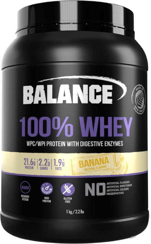 Balance 100% Whey Protein Powder - Banana (1kg)