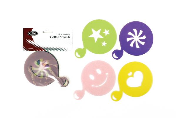 Coffee Stencils - Set of 4