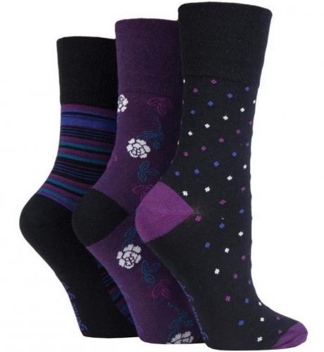 Ladies Gentle Grip Non-elastic Cotton Rich Socks With Honeycomb Top By Sockshop Socken & Strümpfe Socken