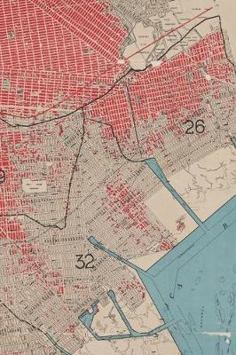 1912 Map of the borough of Brooklyn, city of New York - A Poetose Notebook / Journal / Diary (50 pages/25 sheets)