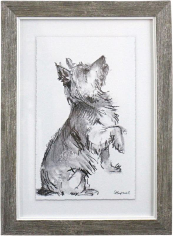 LaVida: Framed Puppy Drawing 2