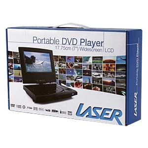 "Laser Portable DVD Player 7"" Screen 180 Flip image"