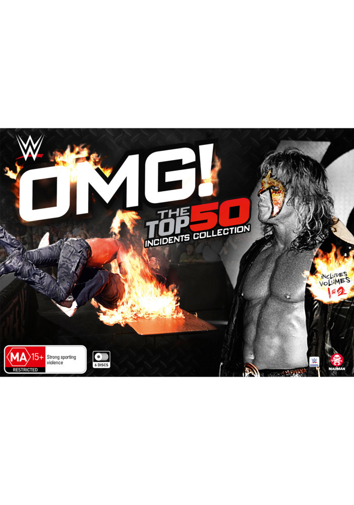 WWE: OMG! The Top 50 Incidents In WWE History Collection (Box Set) on DVD image