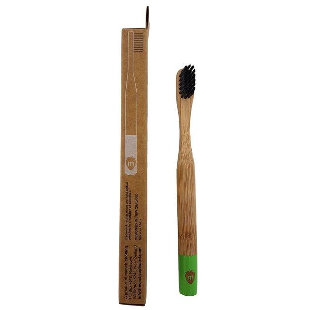 Munch Children's Bamboo Toothbrush - Green