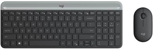 Logitech MK470 Slim Wireless Keyboard and Mouse Combo - Black