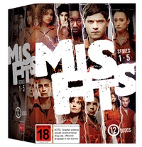 Misfits - Series 1-5 Box Set on DVD