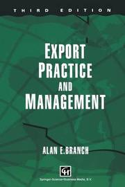 Export Practice and Management by Alan E Branch