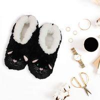Slumbies Cat Furry Foot Pals Slippers (S) image