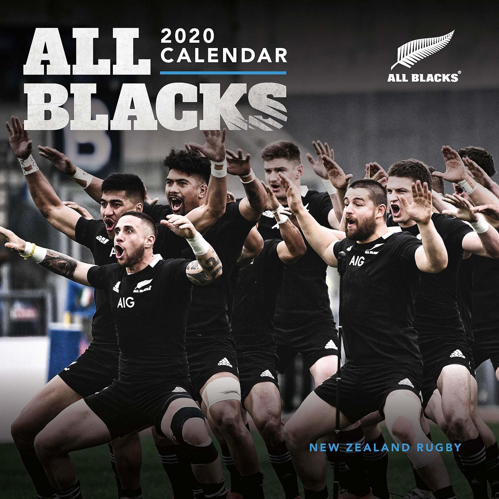 All Blacks 2020 Square Wall Calendar image