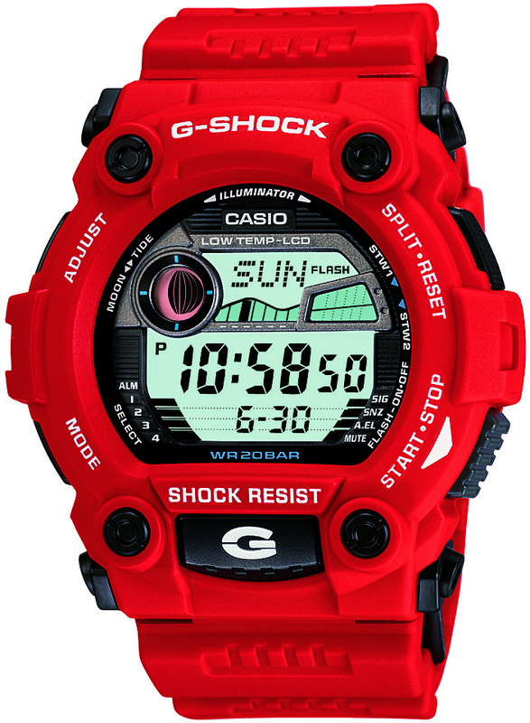 Casio G-Shock Digital Mens Red Tide Graph Watch G-7900A-4DR
