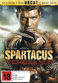 Spartacus Vengeance on DVD