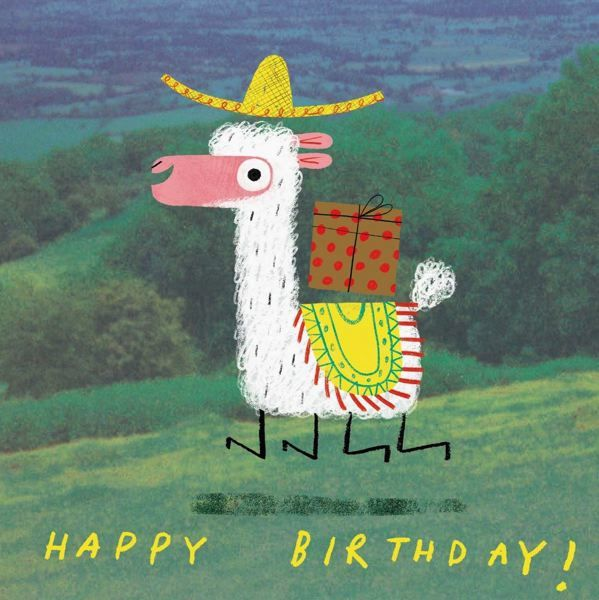 Oh Deer: Happy Birthday Alpaca Greeting Card