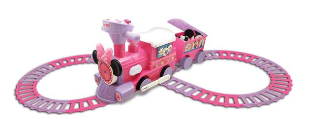 Kiddieland: Powered Train Activity Ride-On - Minnie Mouse