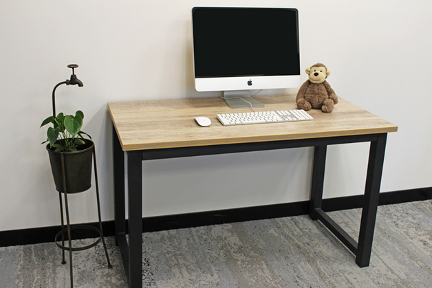 Gorilla Office: Multi-Purpose Desk with Wood Grain Finish Top