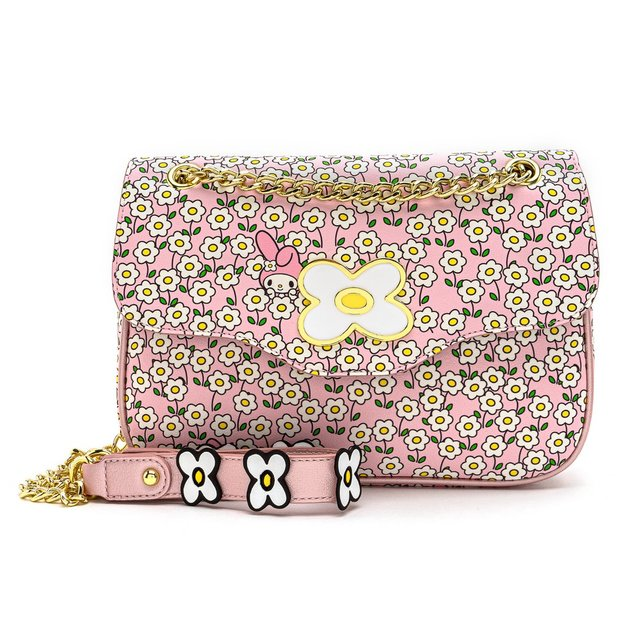 Loungefly: Hello Kitty - My Melody Flower Field Crossbody Bag