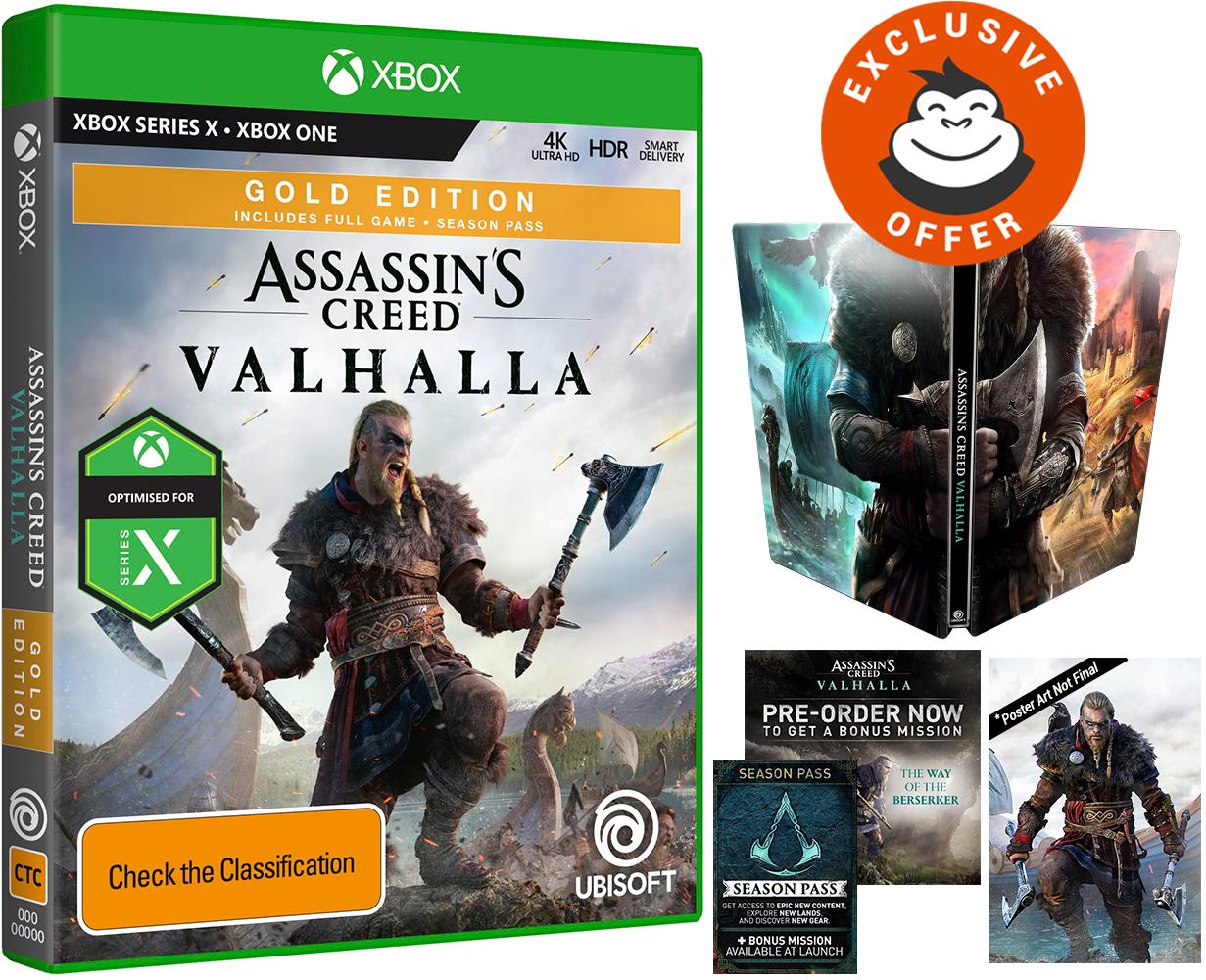 Assassin S Creed Valhalla Gold Steelbook Edition Xbox One Pre