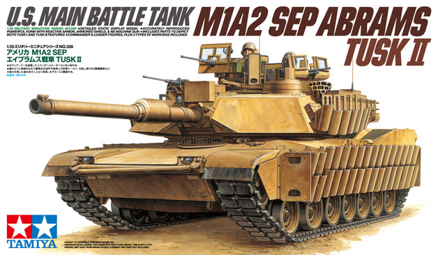 Tamiya U.S. M1A2 SEP Abrams TUSK II Tank 1/35 Model Kit